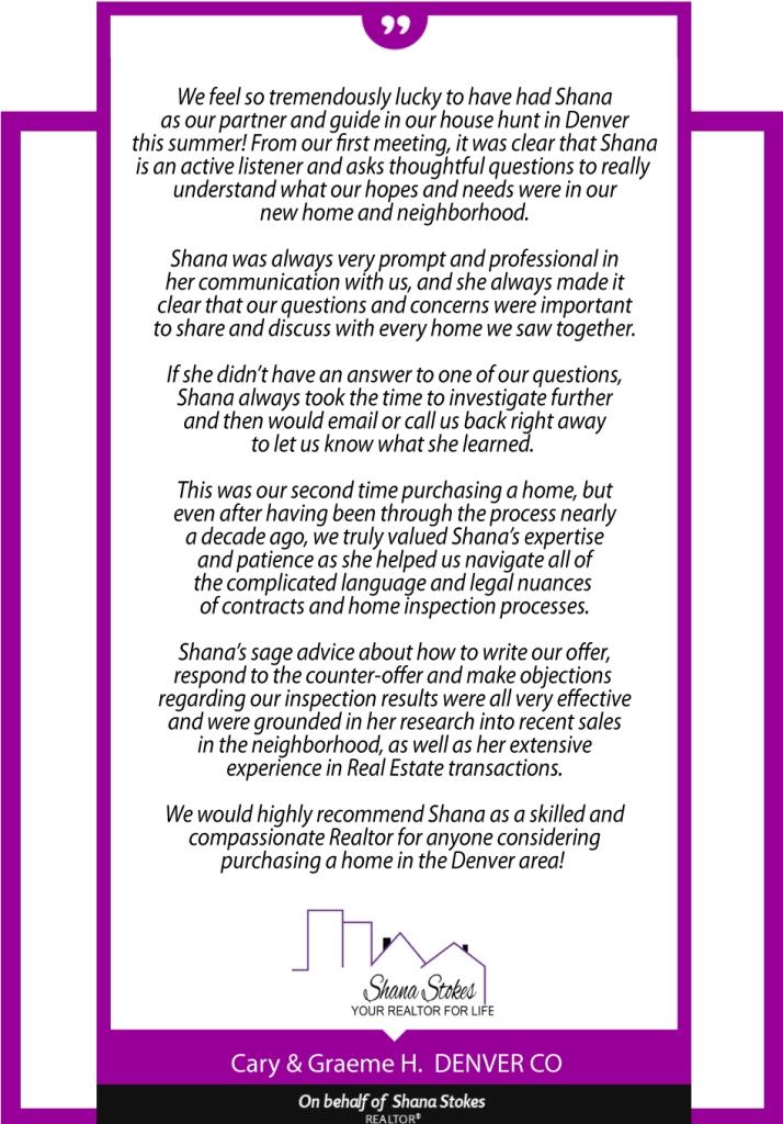 Testimonial for Shana Stokes Real Estate LLC